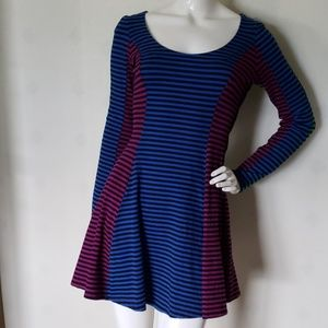 BETSEY JOHNSON stripe skater dress